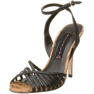STEVEN by Steve Madden Womens Fevva Sandal,Black,8 M Shoes