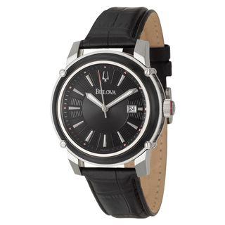 Bulova Mens Stainless Steel Date Watch
