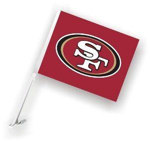 San Francisco 49ers Car Flags   1 Pair