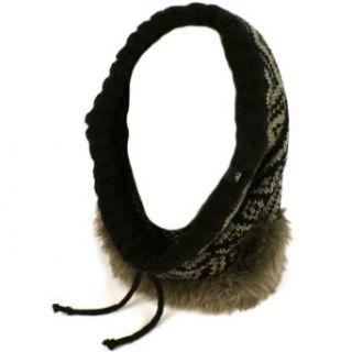 Faux Fur Hoodie Pullover Headscarf Knit Loop Neckwarmer