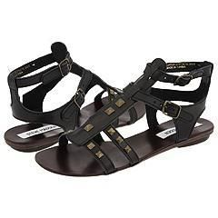 Steve Madden Catelina Black Leather Sandals