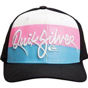 Quiksilver Boys Crook By Hat Cap Black/White/Blue/Pink