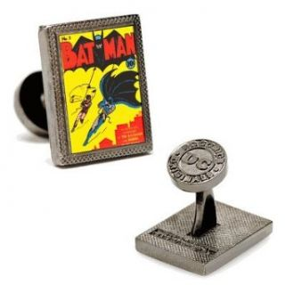 Batman First Issue Comic Book Cover Cufflinks Clothing