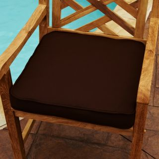 Clara Brown 19 inch Square Outdoor Sunbrella Chair Cushion