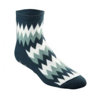 FootSmart Mens / Womens Angora Wool Bed Socks, Zig Zag
