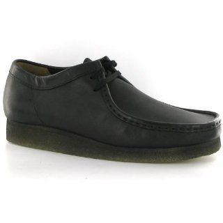Clarks Originals Wallabee Black Leather Mens Shoes Shoes