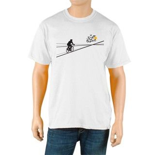 Le Tour de France Mens Poster White Official T Shirt