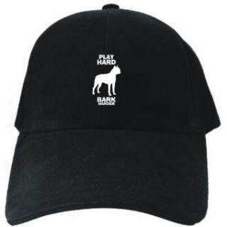 PLAY HARD Boston Terrier CRASH HARDER Black Baseball Cap