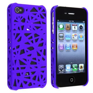 Dark Blue Bird Nest Snap on Case for Apple iPhone 4/ 4S