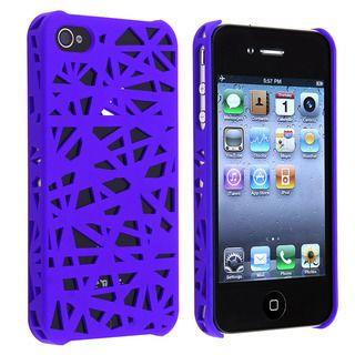 Dark Blue Bird Nest Snap on Case for Apple iPhone 4/ 4S
