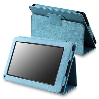 Blue Leather Case with Stand for  Kindle Fire