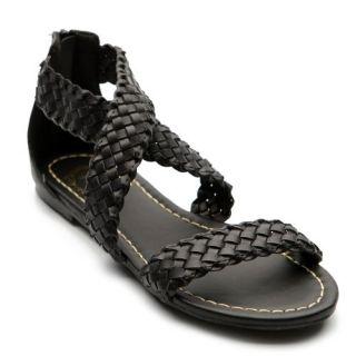 Ollio Womens Cross Braided Flat Sandal Shoes Shoes