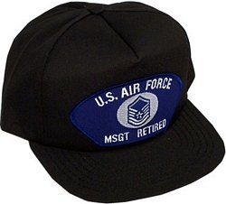 U.S. Air Force MSGT Retired Ballcap Clothing