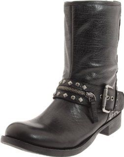 West Womens Transport Motorcycle Boot,Black Leather,5.5 M US Shoes