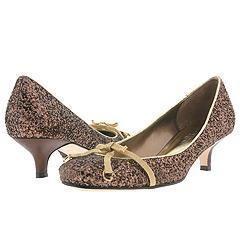 Hype Vertex Bronze Chunky Glitter Pumps/Heels