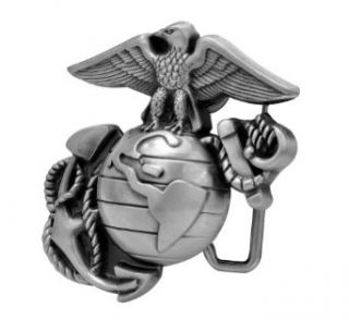 Buckle Rage Classic Pewter Marine Corps Eagle Globe Belt