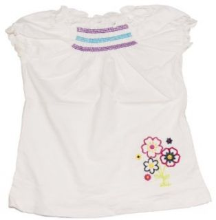 Faded Glory Toddler Girls Summer White Cozy Short Sleeve