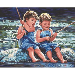Fishin Pals Paint By Number Kit (20 x 16)