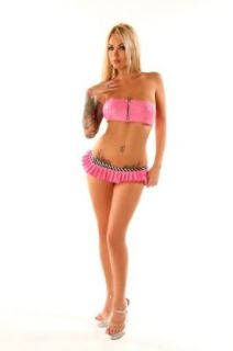 Folter Womens/Juniors Pink SWEET TOOTH Pleated Micro Mini