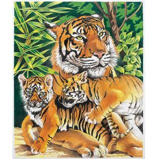 Reeves Tiger & Cubs Color By Number Kit