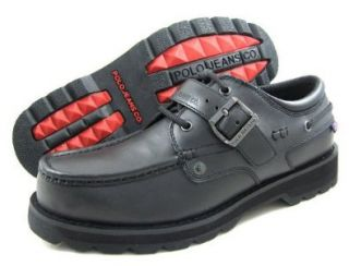 Ralph Lauren Mens B Voyager Buckle Black Boots/Shoes US 10.5 Shoes