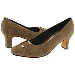 Ros Hommerson Astor Taupe Suede Pumps/Heels