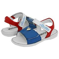Moschino Kids Footwear Art. 24454 (Infant/Toddler) Blue/White/Red