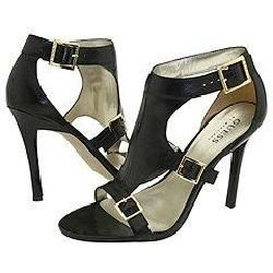 GUESS by Marciano Delicacy Black Leather Sandals