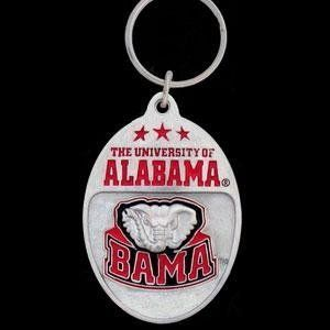 College Team Logo Key Ring   Alabama Crimson Tide: Sports