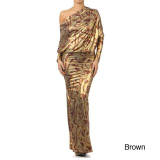 Tabeez Foil Printed Maxi Dress