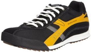 SKECHERS Mens Ascoli Allied (Black/Gold 13.0 M) Shoes