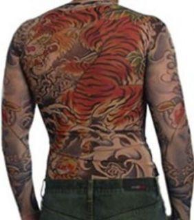 Mens Sleeves Full Body Tattoo Shirt (Tiger) Clothing