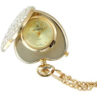 Peugeot Womens 703 Crystal Heart shaped Pendant Watch