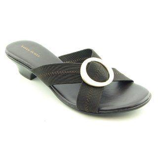 Karen Scott Womens Sarita Slide Sandal (6.5, Chocolate) Shoes