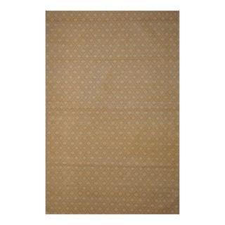 Indo Hand tufted Flat Weave Beige/ Brown Kilim Rug (56 x 8