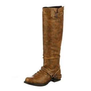 Madden Girl Womens Zoiiee Tan Riding Boots