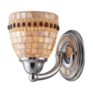 Polished Chrome and Capiz Shell 1 light Wall Sconce