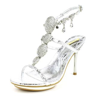Celeste Womens Joyce 03 Silver Ankle Strap Sandal