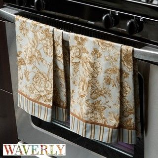 Waverly Tea Rose Toile Kitchen Towels (Pack of 4)