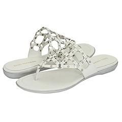 Enzo Angiolini Thesis White/Silver Sandals