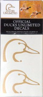 Ducks Unlimited Duckhead Decal Sports & Outdoors