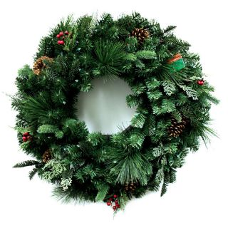 Good Tidings 30 inch Decorative Wreath with LED Lights
