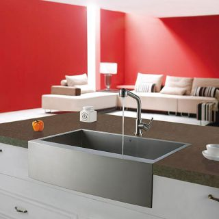Vigo Farmhouse 30 inch Stainless Steel Kitchen Sink and Faucet