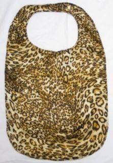 New Silky Leopard Print Adult Fashion Bib   Velcro Closure