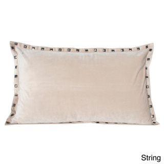 Thro Payton Velvet Studded 20 inch Decorative Pillow