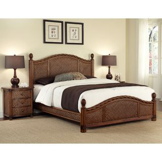 Marco Island Refined Cinnamon King size Bed and Night Stand