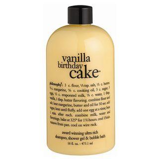 Philosophy 16 ounce Vanilla Birthday Cake Shampoo/ Shower Gel/ Bubble