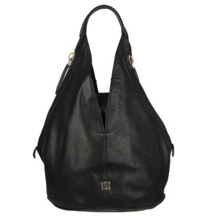 Givenchy Tinhan Small Black Leather Hobo Bag