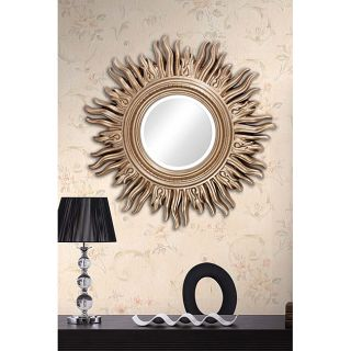 Beveled 34 inch Light gold Sun Mirror