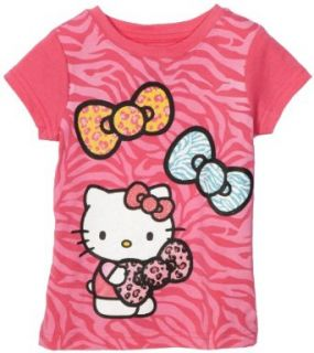Hello Kitty Girls 2 6x Three Bow Graphic T Shirt, Pink, 5